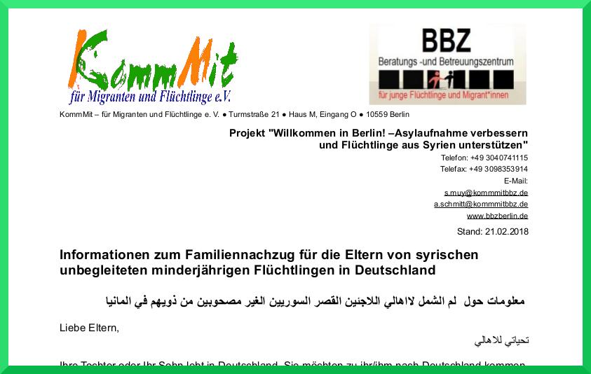 Eltern in Syrien + Kinder in Deutschland