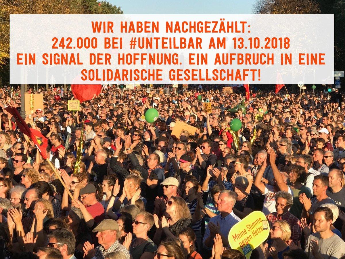 Wir sind #UNTEILBAR