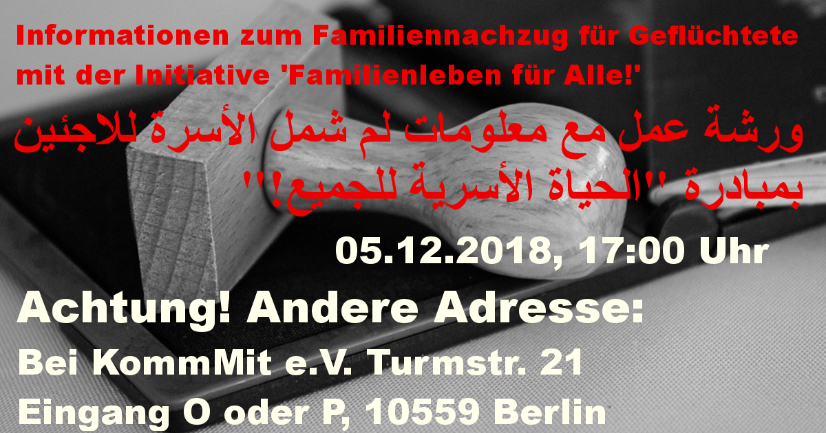 Informationsveranstaltung in Berlin