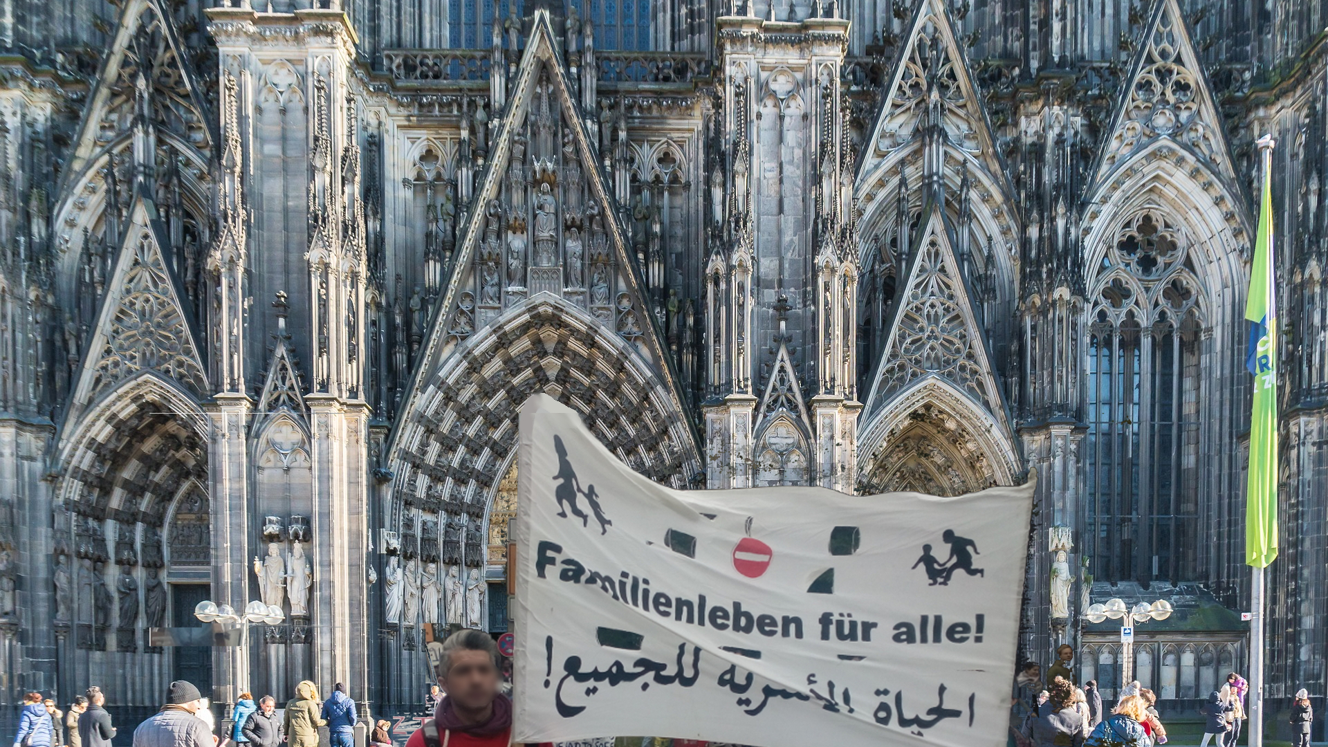 Kundgebung für Familiennachzug in Köln