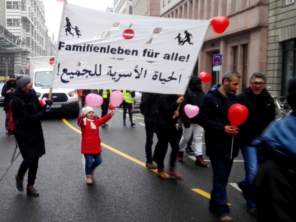 02.02.2019 Berlin: Demonstration für Familiennachzug und Grundrechte für Alle