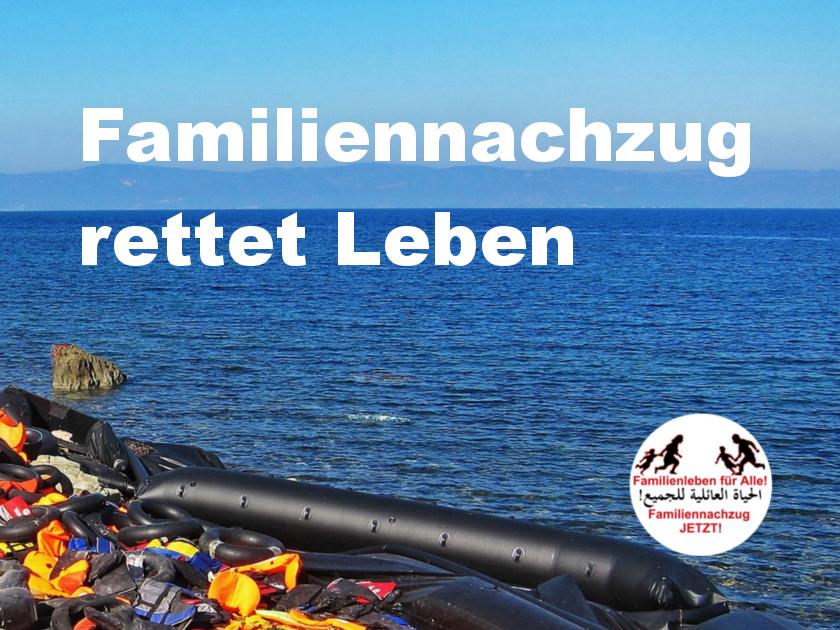 01.08.2019: Kundgebung für Familiennachzug