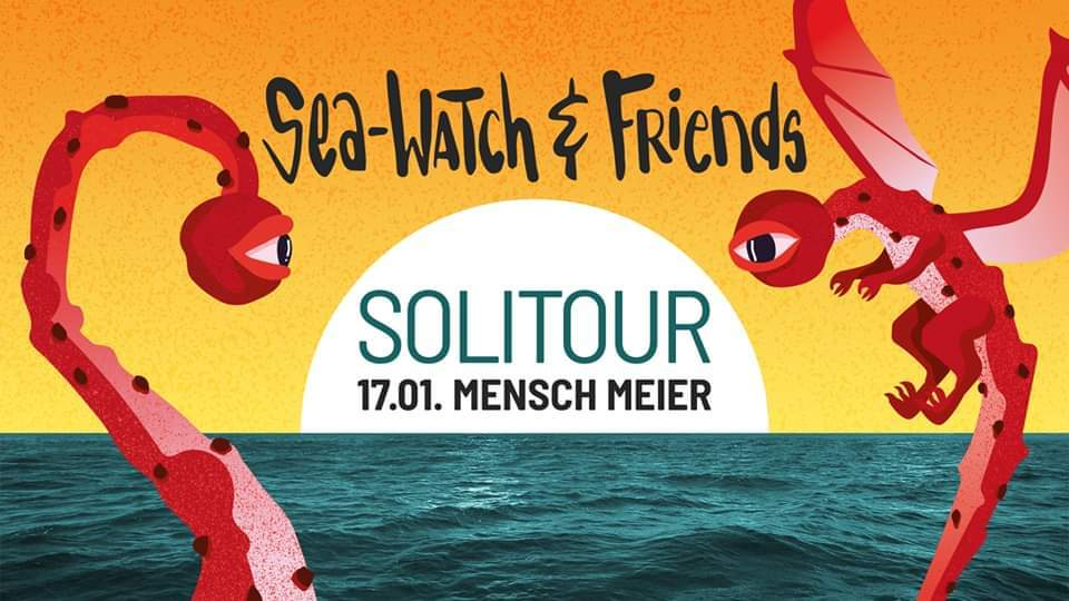 17.01.2020 Berlin: Sea-Watch & Friends Solitour – Dritter Auftakt