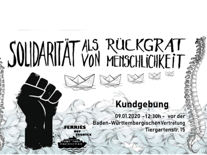 09.01.2020 Berlin: Demonstration und Kundgebung gegen Frontex